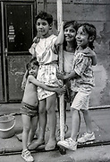 Children posing in Zizkov.