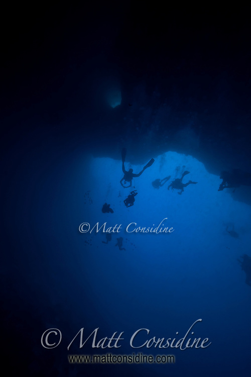 Divers in Blue Holes, Palau Micronesia(Photo by Matt Considine - Images of Asia Collection)
