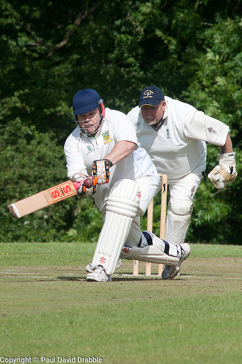 Cricket Whiston Meths V Kilnhirst.Whiston Methodists Batsman Ken Ingram.121040  Whiston Meths Vs Kilnhirst ..30 June 2012.Image © Paul David Drabble