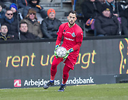 FODBOLD: Aris Vaporakis (FC Helsingør) under kampen i ALKA Superligaen mellem Brøndby IF og FC Helsingør den 25. februar 2018 på Brøndby Stadion. Foto: Claus Birch.