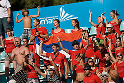 Serbian fans during waterpolo Semifinal Round match between National teams of Croatia and Serbia during the 13th FINA World Championships Roma 2009, on July 30, 2009, at the Stadio del Nuoto,  Foro Italico, Rome, Italy. Serbia won 12:11. (Photo by Vid Ponikvar / Sportida)