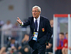 NANNING, CHINA - Thursday, March 22, 2018: China's head coach Marcello Lippi during the opening match of the 2018 Gree China Cup International Football Championship between China and Wales at the Guangxi Sports Centre. (Pic by David Rawcliffe/Propaganda)