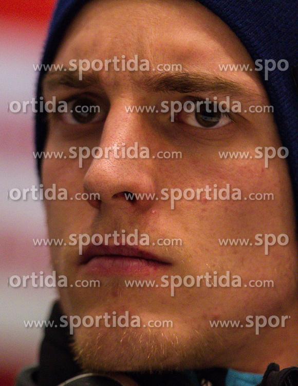 06.01.2013, Paul Ausserleitner Schanze, Bischofshofen, AUT, FIS Ski Sprung Weltcup, 61. Vierschanzentournee, Pressekonferenz, im Bild Gregor Schlierenzauer (AUT) // Gregor Schlierenzauer of Austria during Pressconference of 61th Four Hills Tournament of FIS Ski Jumping World Cup at the Paul Ausserleitner Schanze, Bischofshofen, Austria on 2013/01/06. EXPA Pictures © 2012, PhotoCredit: EXPA/ Juergen Feichter