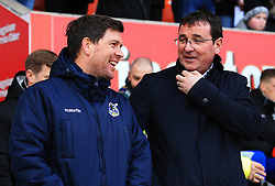 Bristol Rovers manager Darrell Clarke and Blackpool manager Gary Bowyer - Mandatory by-line: Matt McNulty/JMP - 13/01/2018 - FOOTBALL - Bloomfield Road - Blackpool, England - Blackpool v Bristol Rovers - Sky Bet League One