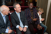 VIVIAN CRAIG; SIMON MANN; HIS LEGAL PRACTITIONER; JONATHAN SAMUKANJE ; ARTHUR MANN, Simon Mann and Marco Pierre White: Book launch for 'Cry Havoc' . Wheelers's. St. james's. London. 26 October 2011. <br /> <br />  , -DO NOT ARCHIVE-© Copyright Photograph by Dafydd Jones. 248 Clapham Rd. London SW9 0PZ. Tel 0207 820 0771. www.dafjones.com.