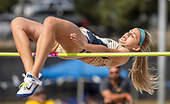 Big West Championships Track and Field women's high jump event at Cal State Fullerton in Fullerton, CA on Friday May 5, 2017.<br /> Photo by Samuel Navarro / Sports Shooter Academy