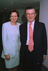 MR & MRS GEORGE MAGAN the leading City figure, at a party in London on 23rd September 1997.MBL 12