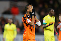 Deception Jordan AYEW - 20.12.2014 - Lorient / Nantes - 17eme journee de Ligue 1 -<br />