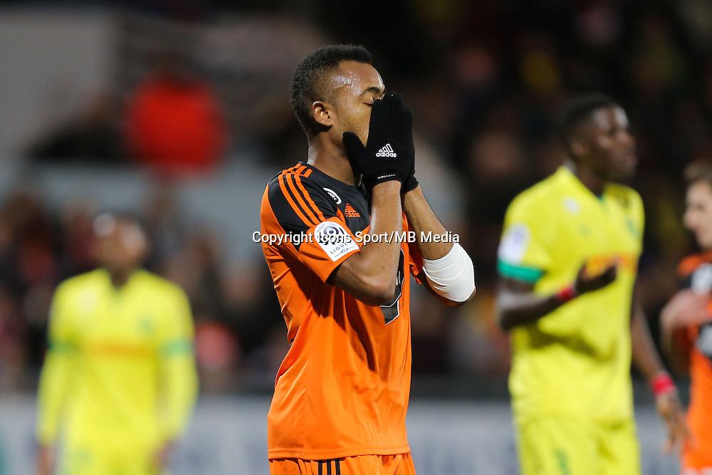 Deception Jordan AYEW - 20.12.2014 - Lorient / Nantes - 17eme journee de Ligue 1 -<br />Photo : Vincent Michel / Icon Sport