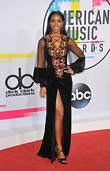 Kelly Rowland at the 2017 American Music Awards held at the Microsoft Theater in Los Angeles, USA on November 19, 2017.
