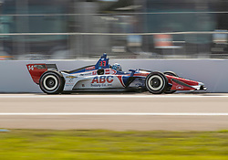 March 9, 2019 - St. Petersburg, FL, U.S. - ST. PETERSBURG, FL - MARCH 09: A.J. Foyt Enterprises driver Tony Kanaan (14) of Brazil during the NTT IndyCar Series - Firestone Grand Prix Qualifying on March 9 in St. Petersburg, FL. (Photo by Andrew Bershaw/Icon Sportswire) (Credit Image: © Andrew Bershaw/Icon SMI via ZUMA Press)