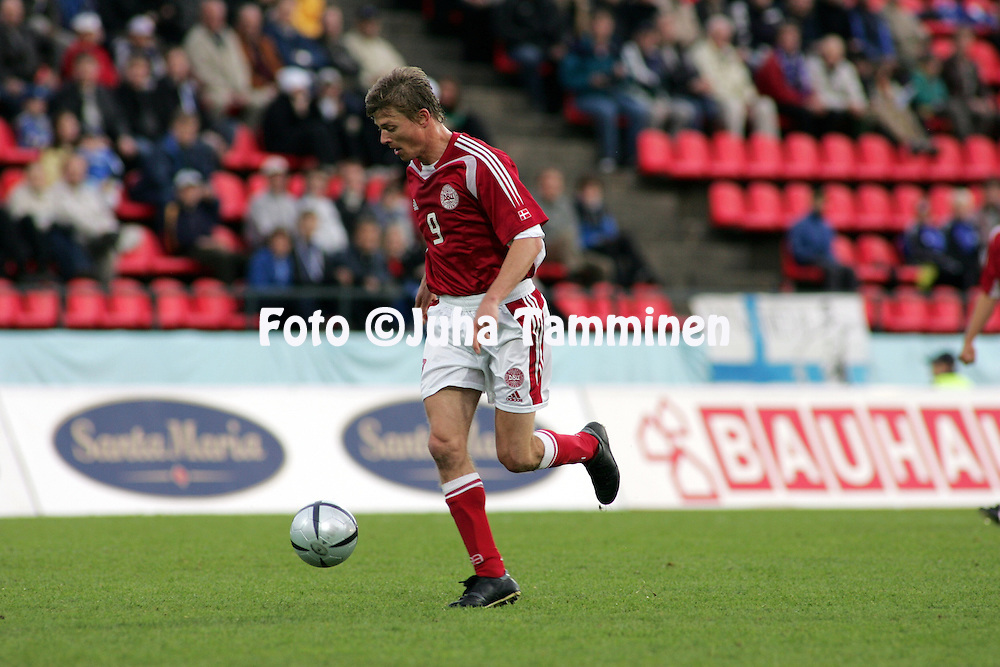 02.06.2005, Ratina Stadium, Tampere, Finland..Friendly International match, Finland v Denmark.Jon Dahl Tomasson - Denmark.©Juha Tamminen