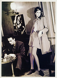 Daniel Hechter Paris 1990 Fall Winter Advertising Campaign. Supermodels Susan Holmes and Antonis. Photographer © Amyn Nasser. All Rights Reserved. Photographed in Paris. Technical Details: Black & White Film Kodak Tri-X Push Process ISO 1000 Processed 1200-1400 with Hand Copper Toned on ILFORD Bromide Grade 3 - Air Dry - Pressed - ReCopied Artwork for Press Third Generation - Hand Printed by IMAGENOIR Paris - Copy Generated Transparencies PICTO Lab Paris.