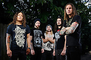 Portraits of metalcore group As I Lay Dying on The Cool Tour 2010, photographed in St. Louis by music photographer Todd Owyoung.