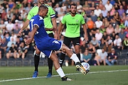 Leeds United's Kemar Roofe(7) scores a goal 0-1 during the Pre-Season Friendly match between Forest Green Rovers and Leeds United at the New Lawn, Forest Green, United Kingdom on 17 July 2018. Picture by Alan Franklin.