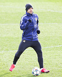 Sergio Aguero of Manchester City during the training session at The Etihad Campus ahead of the UEFA Champions League clash with FC Barcelona - Photo mandatory by-line: Matt McNulty/JMP - Mobile: 07966 386802 - 23/02/2015 - SPORT - Football - Manchester - Etihad Stadium