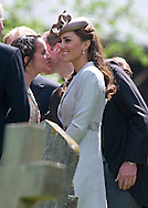 """PRINCE WILLIAM AND CATHERINE, Duchess of Cambridge.attend the wedding of William's cousin Emily McCorquodale to James Hutt at  the Church of St Andrew & St Mary, Stoke Rochford, Lincolnshire.Emily is the daughter of Princess Diana' sister Sarah McCorquodale_09/06/2012.Mandatory Credit Photo: ©NEWSPIX INTERNATIONAL..**ALL FEES PAYABLE TO: """"NEWSPIX INTERNATIONAL""""**..IMMEDIATE CONFIRMATION OF USAGE REQUIRED:.Newspix International, 31 Chinnery Hill, Bishop's Stortford, ENGLAND CM23 3PS.Tel:+441279 324672  ; Fax: +441279656877.Mobile:  07775681153.e-mail: info@newspixinternational.co.uk"""