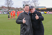 sponsor during the The FA Cup 5th round match between AFC Wimbledon and Millwall at the Cherry Red Records Stadium, Kingston, England on 16 February 2019.