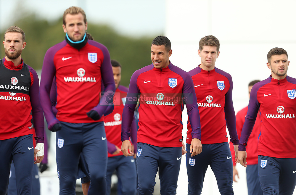 England's Jake Livermore (centre) during the training session at Enfield Training Centre, London.