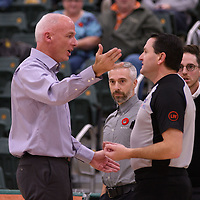 Head Coach Steve Burrows of the Regina Cougars in action during the home opener  on November  4 at Centre for Kinesiology, Health and Sport. Credit: /Arthur Images