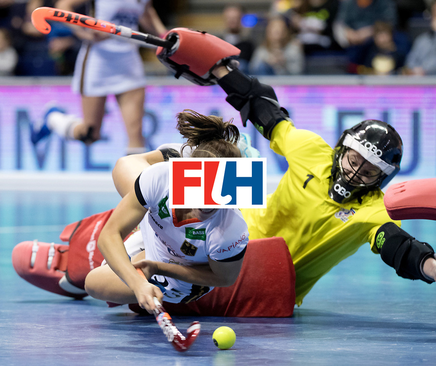 BERLIN - Indoor Hockey World Cup<br /> Women: Czech Republic - Germany<br /> foto: Marie M&auml;vers.<br /> WORLDSPORTPICS COPYRIGHT FRANK UIJLENBROEK