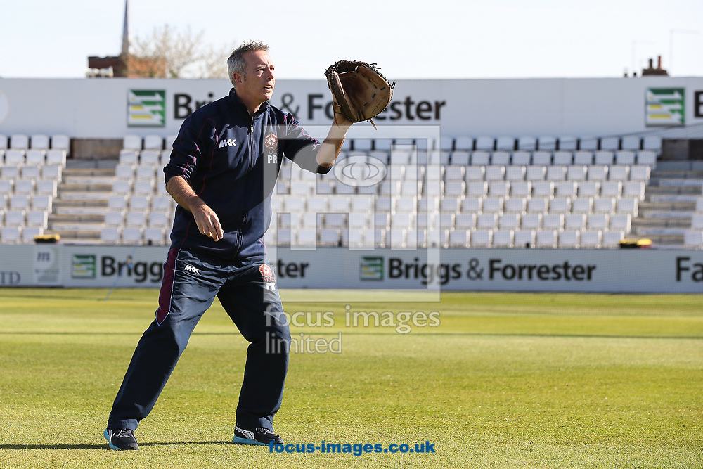 Phil Rowe, Northamptonshire CCC 2nd XI coach, during day two of the Friendly match at the County Ground, Northampton<br /> Picture by Andy Kearns/Focus Images Ltd 0781 864 4264<br /> 03/04/2017