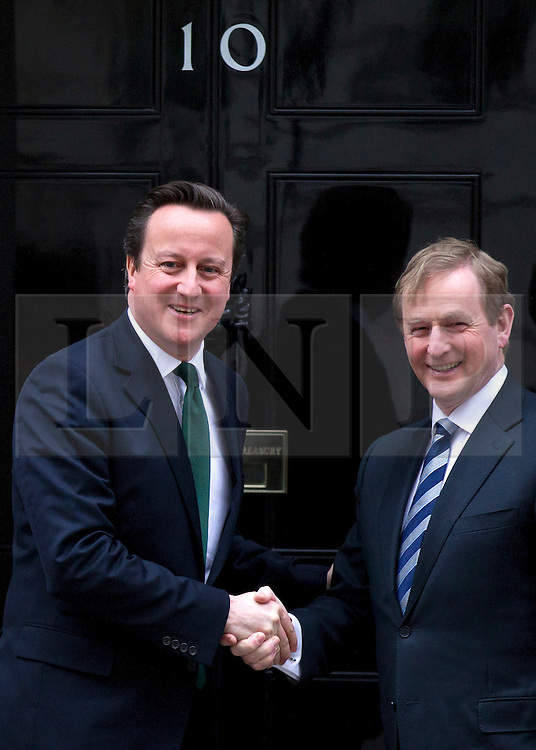 © Licensed to London News Pictures. 11/03/2013. London, UK. British Prime Minister David Cameron meets Irish Taoiseach Enda Kenny on the steps of number 10 Downing Street today 11th March 2013. Photo credit: Matt Cetti-Roberts/LNP