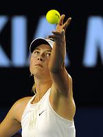 Melbourne Australian Open 2008 24/01/2008<br /> Maria Sharapova (RUS)  serves as she wins semi  final<br /> Photo Roger Parker Fotosports International