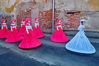 Slovenie, region de Basse-Styrie, Ptuj, ville sur les rives de la Drava (Drave), jour de carnaval // Slovenia, Lower Styria Region, Ptuj, town on the Drava River banks, carnival day
