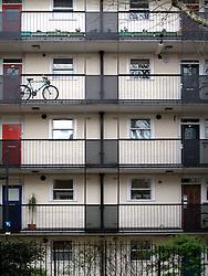 UK ENGLAND LONDON 3APR11 - Council housing block in the leafy quarter of Notting Hill, west London...jre/Photo by Jiri Rezac..© Jiri Rezac 2011
