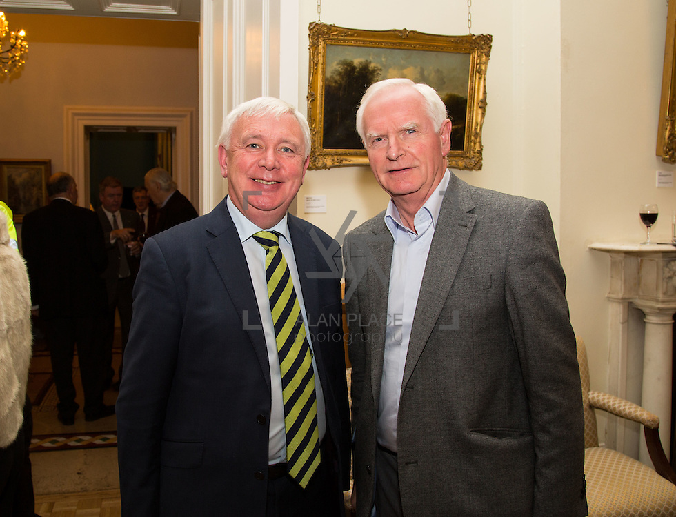 22.11.2016                   <br /> University of Limerick (UL) hosted a gala concert celebrating the music of renowned composer M&iacute;che&aacute;l &Oacute; S&uacute;illeabh&aacute;in.<br /> <br /> Pictured at a special reception before the concert were, John Moroney and Gerry Boland.<br /> <br /> <br /> The RT&Eacute; Concert Orchestra, conducted by David Brophy, performed with M&iacute;che&aacute;l and a selection of special guests in University Concert Hall Limerick. Picture: Alan Place