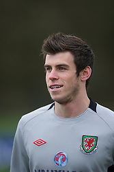 CARDIFF, WALES - Monday, March 21, 2011: Wales' Gareth Bale during a training session at the Vale of Glamorgan ahead of the UEFA Euro 2012 qualifying Group G match against England. (Photo by David Rawcliffe/Propaganda)