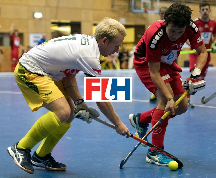 BERLIN - Indoor Hockey World Cup<br /> Switzerland - South Africa<br /> foto: JONES Jarryd<br /> WORLDSPORTPICS COPYRIGHT FRANK UIJLENBROEK