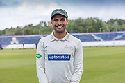 Hassan Azad during the Specsavers County Champ Div 2 match between Durham County Cricket Club and Leicestershire County Cricket Club at the Emirates Durham ICG Ground, Chester-le-Street, United Kingdom on 19 August 2019.