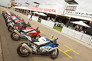 BMW Motorrad South Africa launched the new BMW S1000RR to select national media at Zwartkops raceway on the 19th of March 2015. Image by Greg Beadle