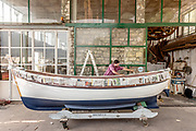 iTALY, ISEO LAKE, traditional Boat Yard by Archetti Ercole