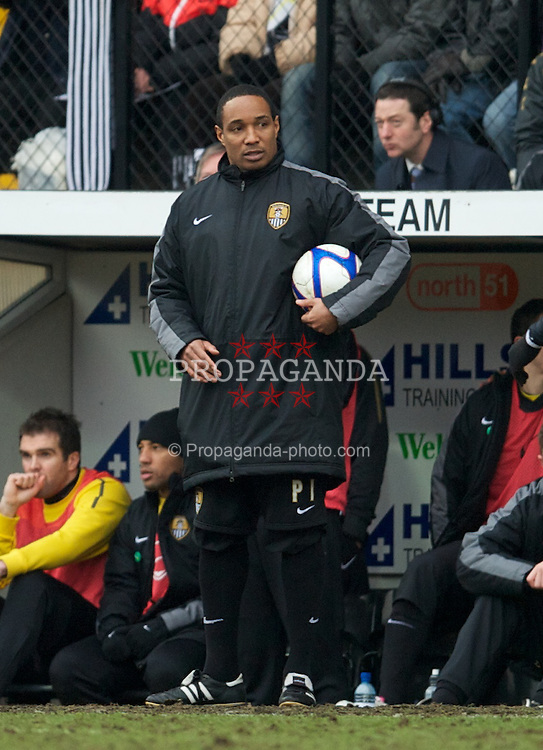 NOTTINGHAM, ENGLAND - Sunday, January 30, 2011: Notts County's manager Paul Ince during the FA Cup 4th Round match against Notts County at Meadow Lane. (Photo by David Rawcliffe/Propaganda)