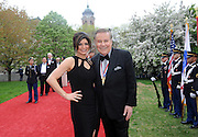 Event co-hosts Tamsen Fadal, left, and Marvin Scott, both of PIX11, pose on the red carpet before the National Ethnic Coalition of Organizations' 2015 Ellis Island Medal of Honor awards ceremony, Saturday, May 9, 2015, in New York.  NECO honored 101 recipients, including journalist Meredith Vieira, New York Yankees legend Mariano Rivera, Washington, D.C., Police Chief Cathy L. Lanier and 11 members of the U.S. military.  NECO's mission is to honor and preserve the diversity of the American people and to foster tolerance, respect and understanding among religious and ethnic groups. (Photo by Diane Bondareff/Invision for NECO/AP Images)