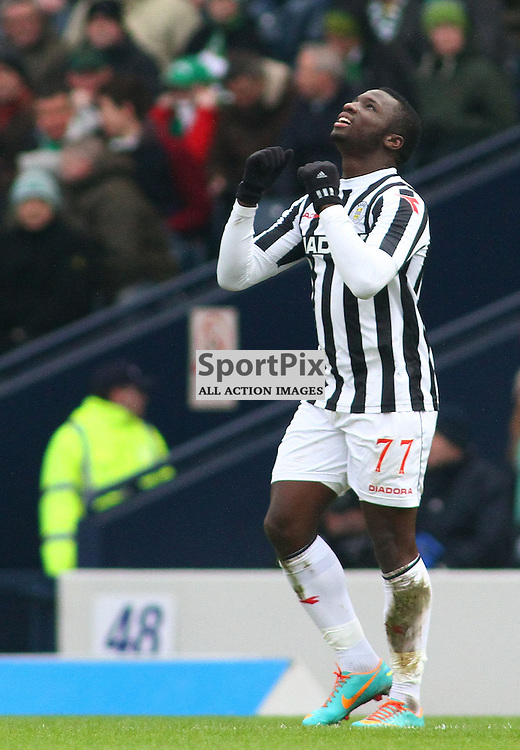 Esmael Gonvalves st mirren celebrates opening the scoring for st mirren against celtic in the ..The Scottish Communities League Cup Semi Final St Mirren v Celtic at Hampden Stadium picture kevin mcglynn