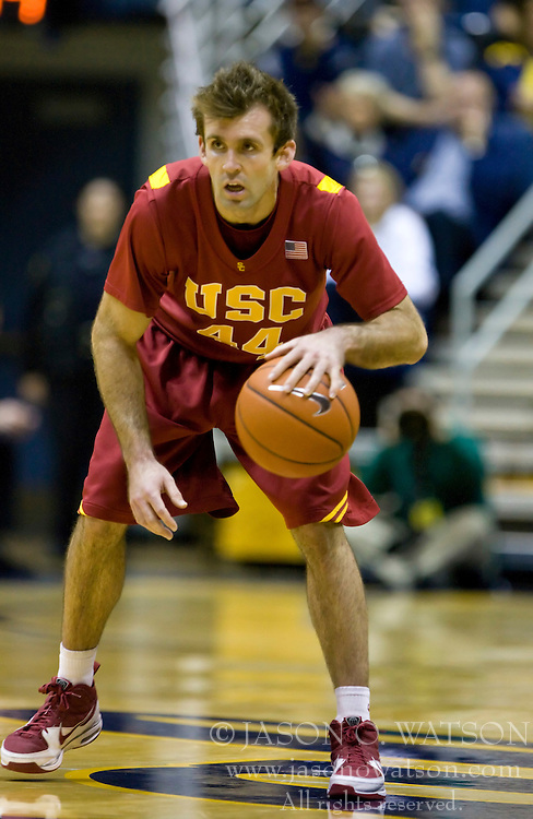 January 9, 2010; Berkeley, CA, USA;  Southern California Trojans guard Mike Gerrity (44) during the second half against the California Golden Bears at the Haas Pavilion.  California defeated USC 67-59.