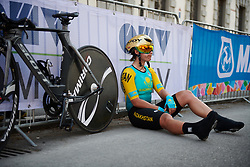 Faina Potapova (KAZ) at UCI Road World Championships 2018 - Elite Women's ITT, a 27.7 km individual time trial in Innsbruck, Austria on September 25, 2018. Photo by Sean Robinson/velofocus.com