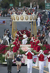 Vanessa Natalie Manjarrez (C) reigns as Rose Queen during the 124th Annual Rose Parade in Pasadena, California, the United States, January 1, 2013. Photo by Imago / i-Images...UK ONLY
