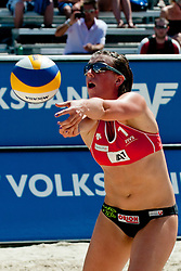 Valerie Teufl of Austria at A1 Beach Volleyball Grand Slam tournament of Swatch FIVB World Tour 2011, on August 2, 2011 in Klagenfurt, Austria. (Photo by Matic Klansek Velej / Sportida)