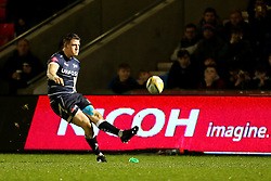Sam James of Sale Sharks scores a conversion - Mandatory by-line: Matt McNulty/JMP - 03/03/2017 - RUGBY - AJ Bell Stadium - Sale, England - Sale Sharks v Northampton Saints - Aviva Premiership