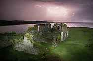 Lightning strikes over the remains of Fort San Lorenzo, Panama.