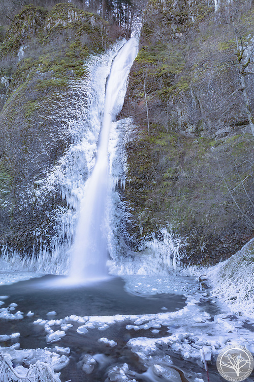 Icy Horsetail Falls, Columbia River Gorge, Multnomah County, OR