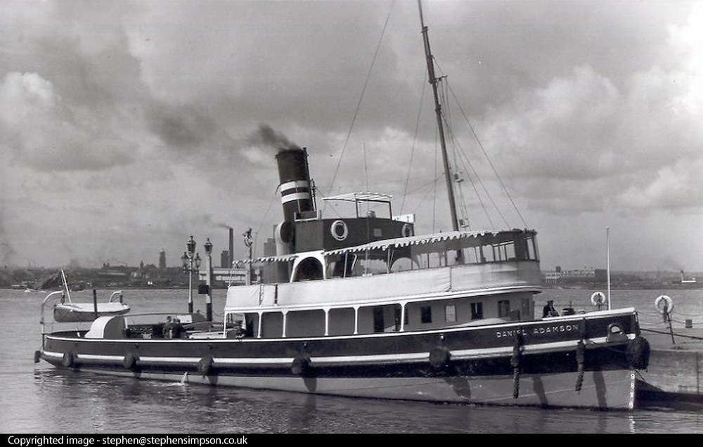 ****COPY HERE****  (https://www.dropbox.com/s/5mg81qiiuy22tre/adamson.rtf?dl=0)   © Licensed to London News Pictures. 02/12/2014. Liverpool , UK . The Daniel Adamson in its working days. The only surviving steam powered tug tender, the Daniel Adamson, is being completely renovated by a team of volunteers in Liverpool. The vessel, which has had 90,000 man hours already spent on it, was bought for only one pound is the awaiting the decision of the Heritage LotteryFund on an application of £3.6m to bring her back to her full glory.  . Photo credit : Stephen Simpson/LNP<br /> <br /> COPY HERE https://www.dropbox.com/s/5mg81qiiuy22tre/adamson.rtf?dl=0