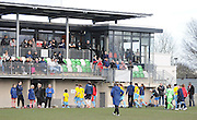 Palace leave the field with their heads held high after exiting the FA Cup. Women's FA Cup match between Charlton Athletic WFC and Crystal Palace LFC at Sporting Club Thamesmead, Thamesmead, United Kingdom on 8 March 2015. Photo by Michael Hulf.