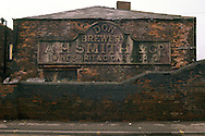 A H Smith & Co, Don Brewery sign Penistone Road Sheffield in the 1980s.