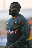 Picture by David Horn/Focus Images Ltd +44 7545 970036.30/08/2012.Georgr Elokobi of Wolverhampton Wanderers before the Capital One Cup match at Sixfields Stadium, Northampton.